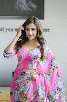 Angela Krislinzki Rogue Movie Fame Telugu Actress in Saree Backless Choli 092.JPG