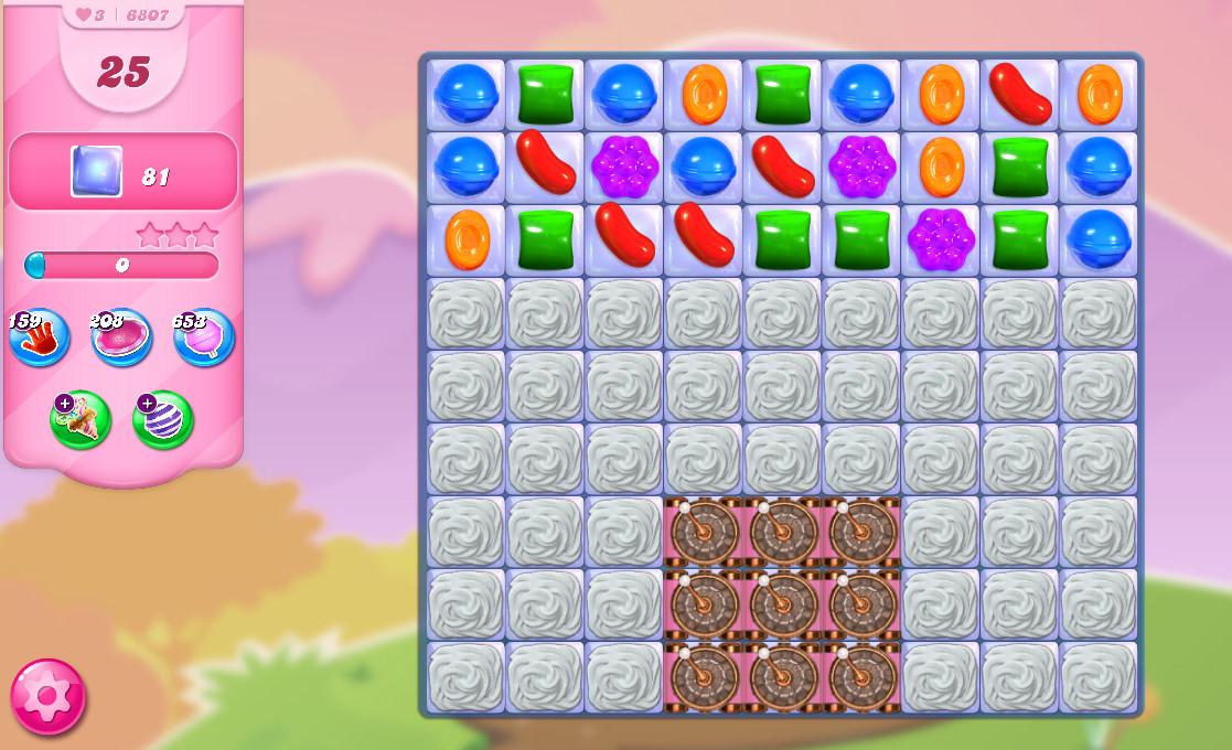 Candy Crush Saga level 6807