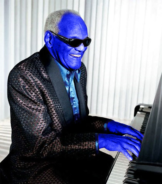 Funny Ray Charles Blue Ray Player Picture