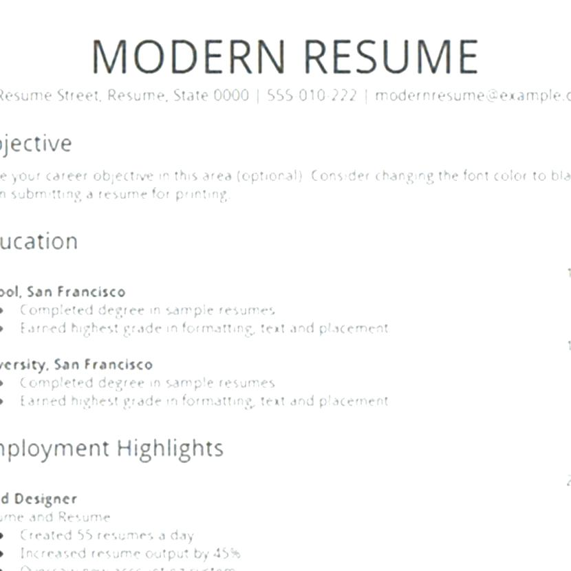 Create Resume Template 2019 - Resume Templates