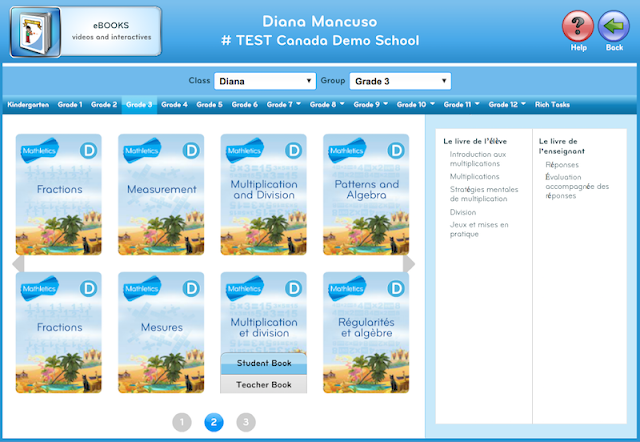 Mathletics eBook library - French eBooks