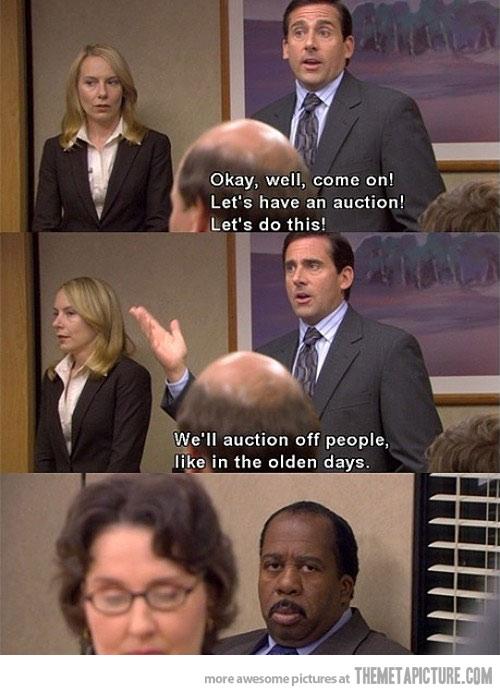 were having an auction