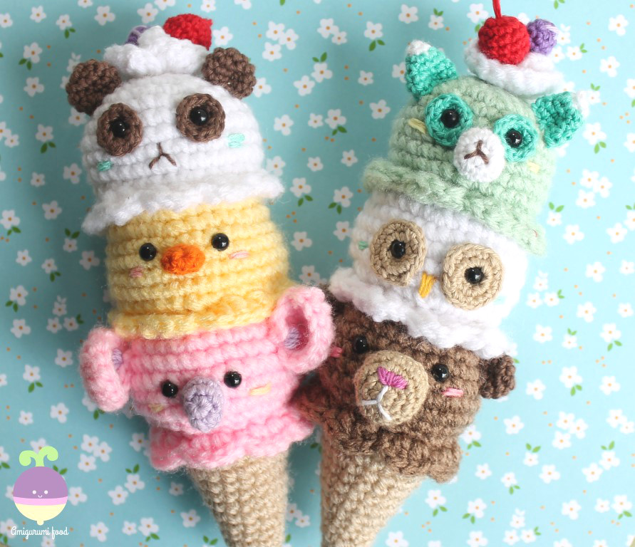 Amigurumi Ice Cream Pattern : Amigurumi Food: New Pattern! Ice cream cuteness!!!