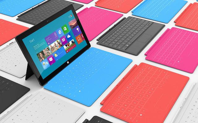 Microsoft Surface Tablet achtergrond met Windows 8 als besturingssysteem
