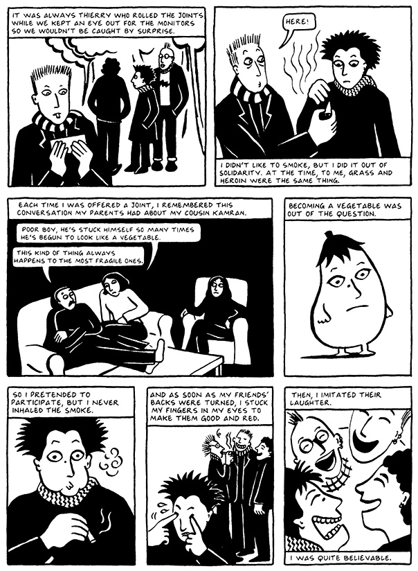 Read Chapter 5 - The Vegetable, page 38, from Marjane Satrapi's Persepolis 2 - The Story of a Return