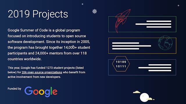 The GSoC 2019 starts with 1.276 worldwide students projects, 7 from our project
