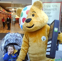 Toddler and Pudsey Bear
