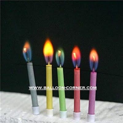 Lilin Ultah Api Warna