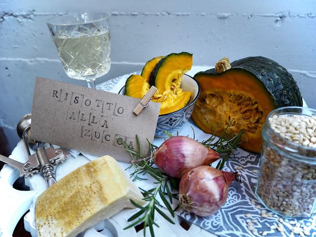 ingredience na italské dýňové risotto
