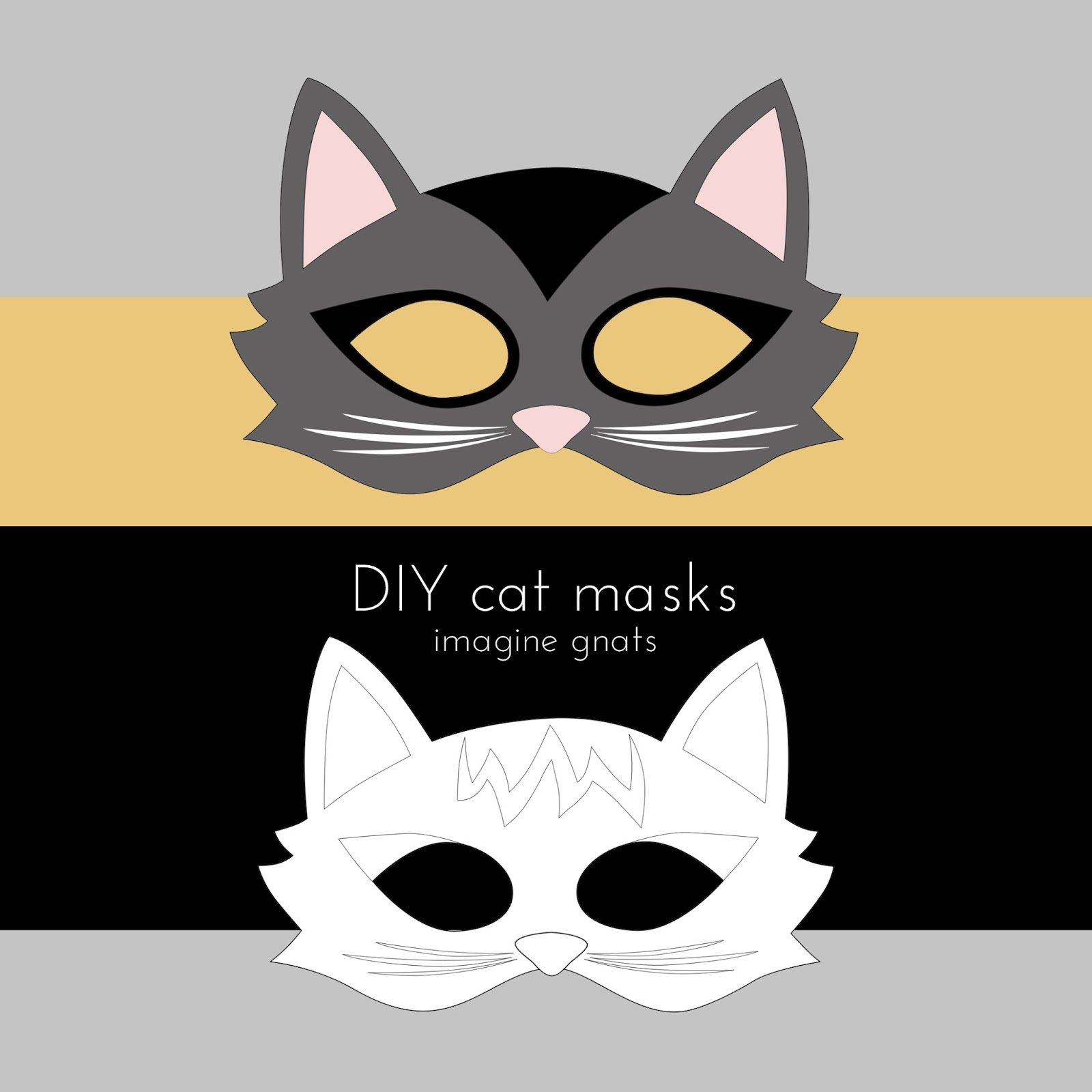 Imagine gnats craft handmade costumes cat mask tutorial for Caterpillar mask template