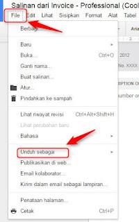 Cara Membuat Nota Pembayaran 'Invoice' Secara Online