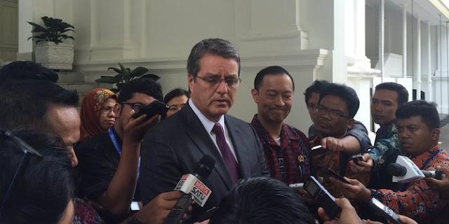 Ucapkan terima kasih, bos WTO temui Jokowi di Istana Negara