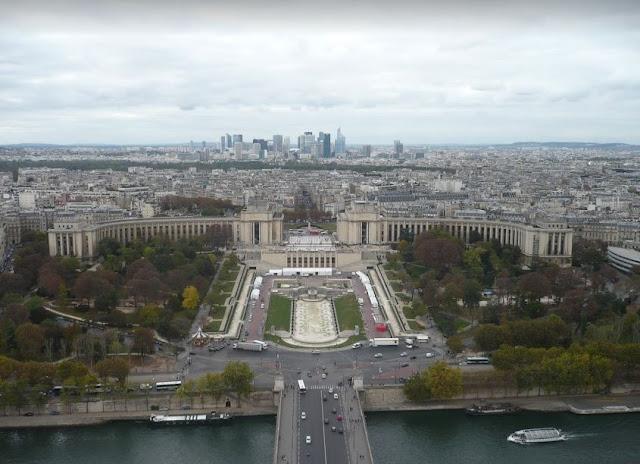 Il Trocadero visto dalla Tour Eiffel