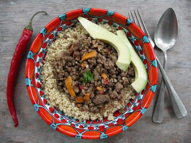 quinoa gehakt avocado