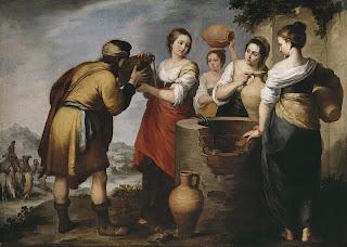 Женитьба Исаака, иллюстрация к Книги Бытия, 24:1-67. Если я ничего не путаю.