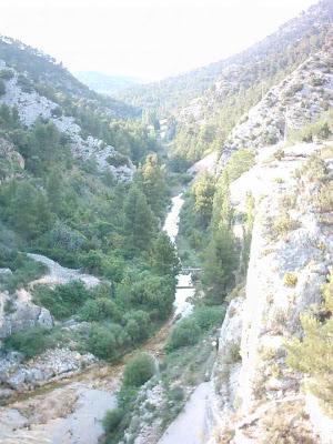 Pantano ,embalse, Pena ,Beceite ,frontera ,Valderrobres, vista abajo