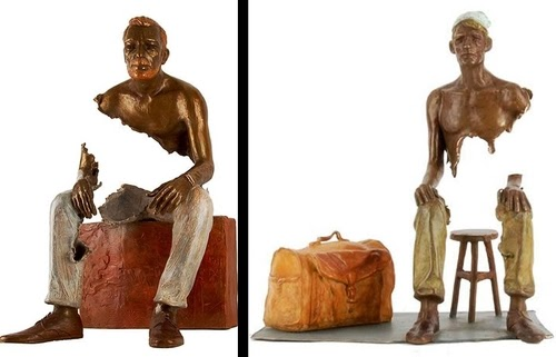 00-French-Artist-Bruno-Catalano-Bronze-Sculptures-Les Voyageurs-The-Travellers-www-designstack-co