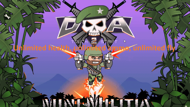 mini militia unlimited health mod