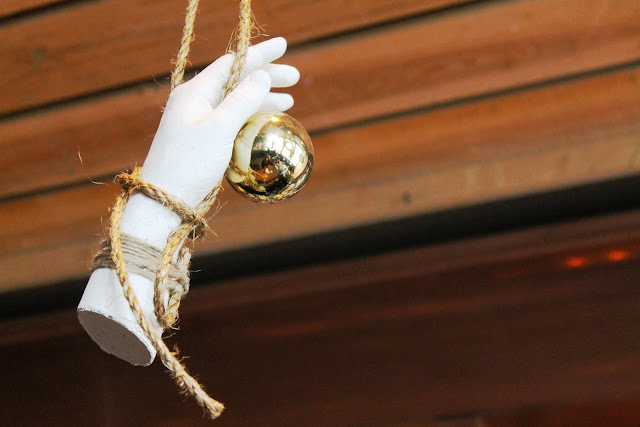 Hanging Hand with Bauble