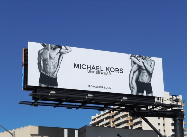 Michael Kors male underwear model billboard