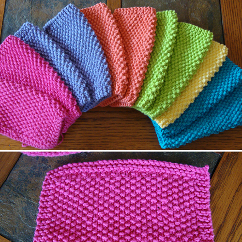 Alaina's Simple Seed Stitch Dishcloth - Free Pattern
