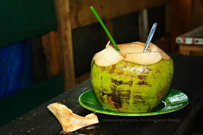 Sebutir kelapa hijau penghilang dahaga