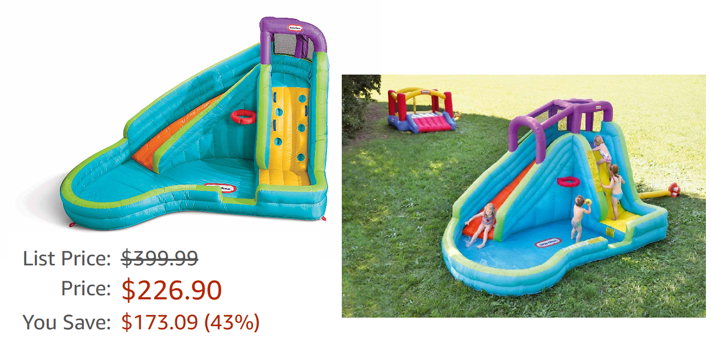 b29634551be Little Tikes Slam  n Curve Inflatable Water Slide  226.90 (Reg  399 In The  Summer) + Free Shipping