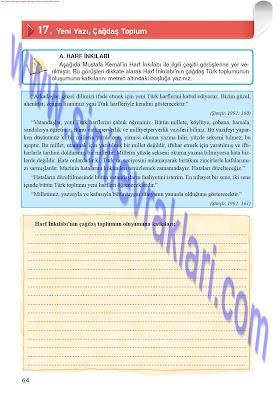 8. Sınıf İnkılap Tarihi Top Yayınları Çalışma Kitabı Cevapları Sayfa 64