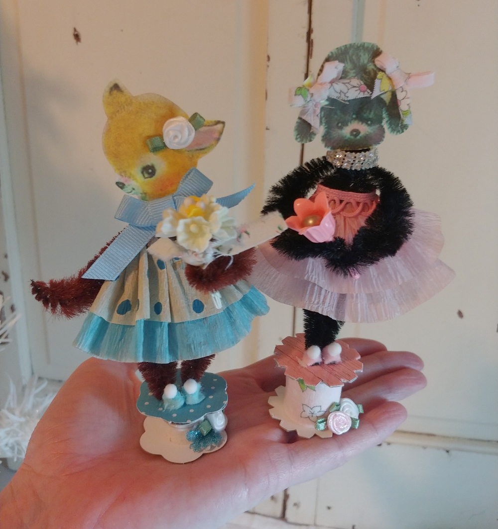 dolls made from pipe cleaners