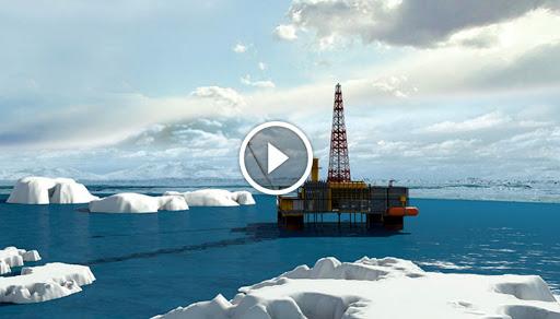 DRAMMATICO! Uno TSUNAMI di ghiaccio travolge piattaforma petrolifera in ALASKA