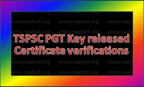 TSPSC-Certificates verification to Gurukula posts