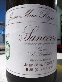 Jean-Max Roger Cuvée Les Caillottes Sancerre 2015 - AC, Loire, France (90 pts)