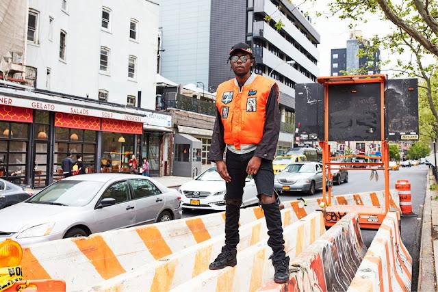 Theophilus London andy warhol interview magazine fashion street wear bomber jacket