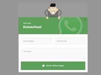 Membuat Contact From WhatsApp di Blogger