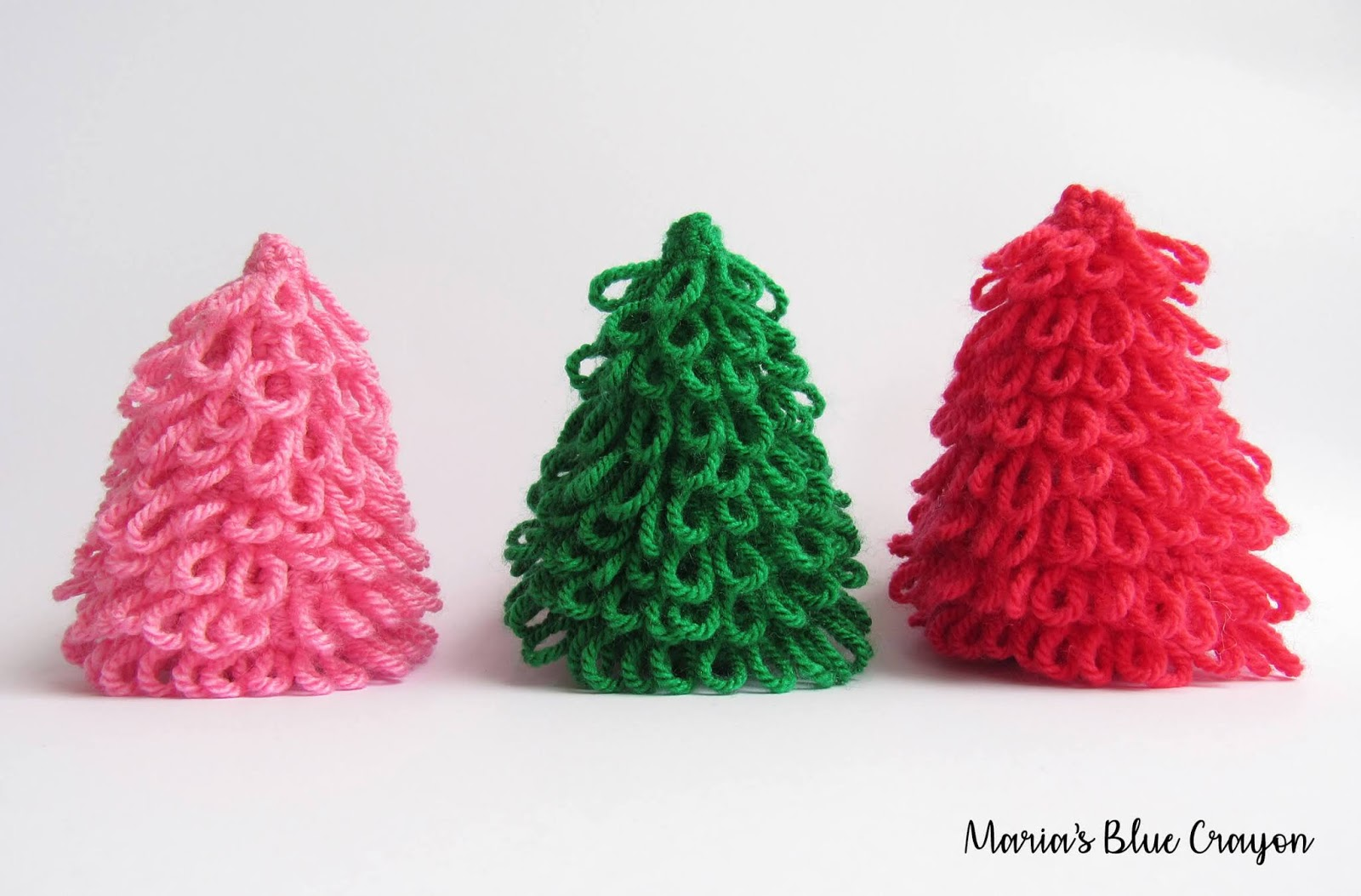 free christmas tree crochet pattern for decoration - Mini Christmas Decorations