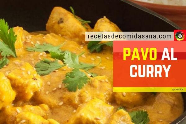 Receta de pavo al curry en comida sana