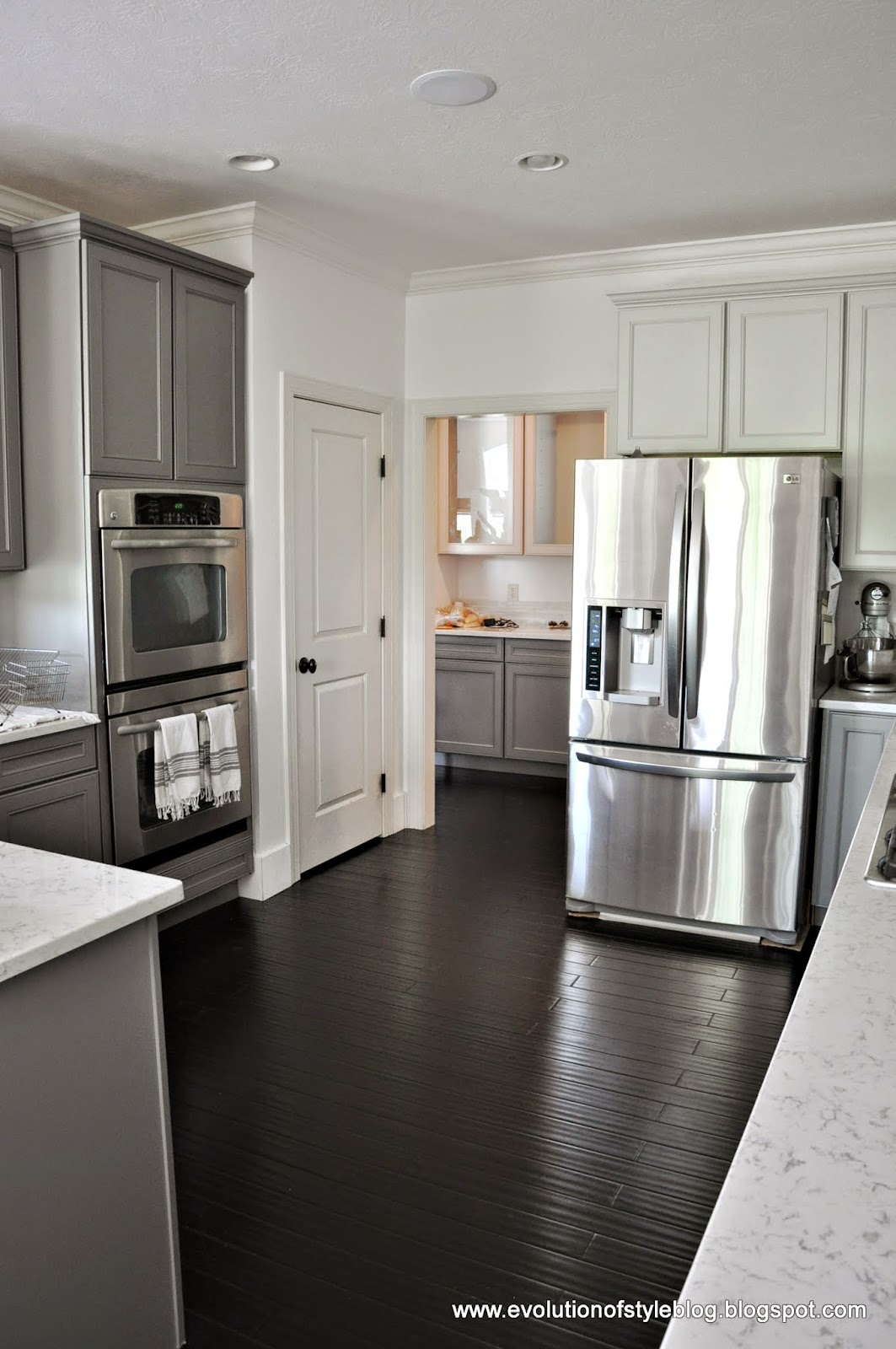 A TwoToned Client Kitchen An Announcement Evolution Of Style - Grey and white cabinets in kitchen