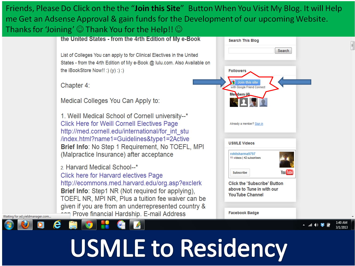 USMLE to Residency Videos, Updates & More!!: February 2013