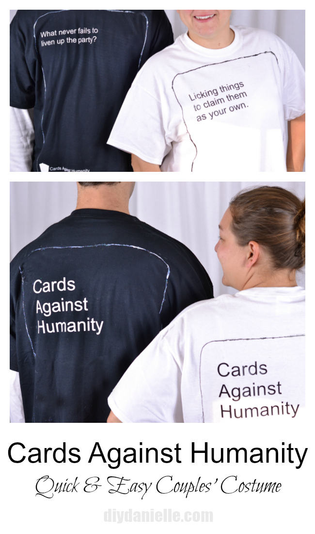 DIY Cards Against Humanity Costume