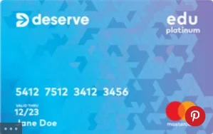 Deserve Edu MasterCard for Students