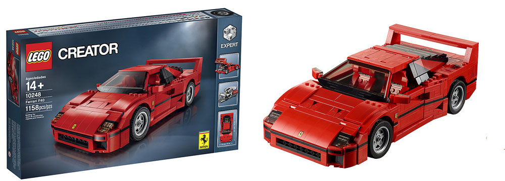 supercarworld lego ferrari f40. Black Bedroom Furniture Sets. Home Design Ideas