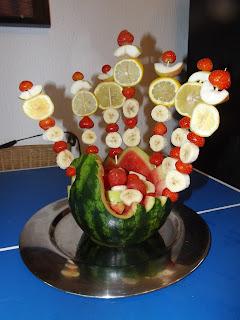 Gyümölcsöstál görögdinnyéből