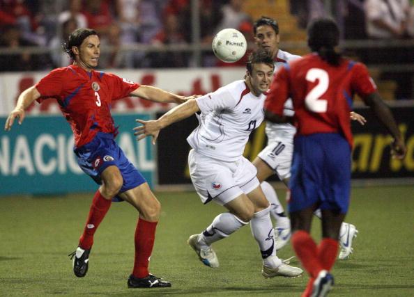 Costa Rica y Chile en partido amistoso, 2 de junio de 2007