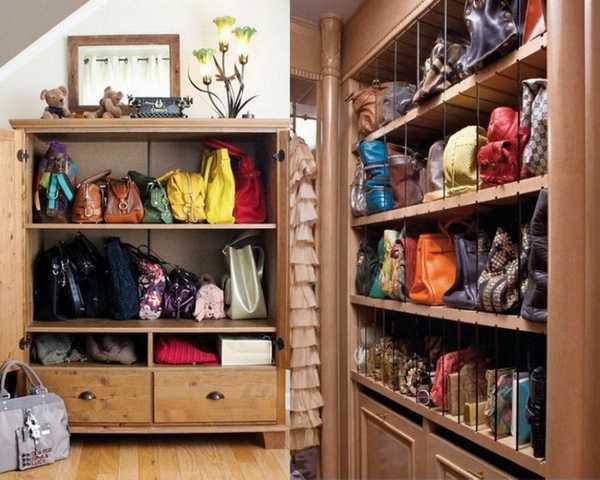 lemari tas kayu