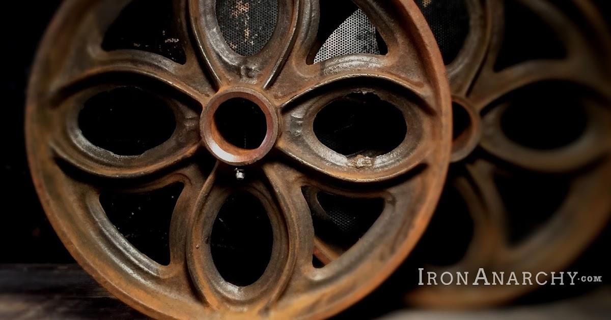 antique lineberry factory cart wheels