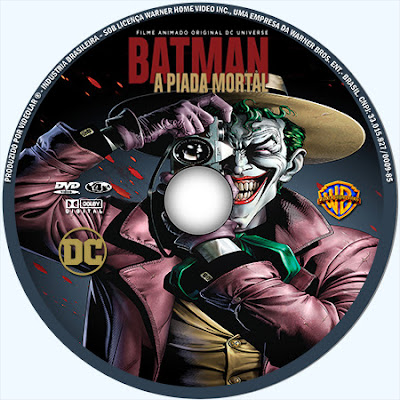 Label DVD Batman A Piada Mortal
