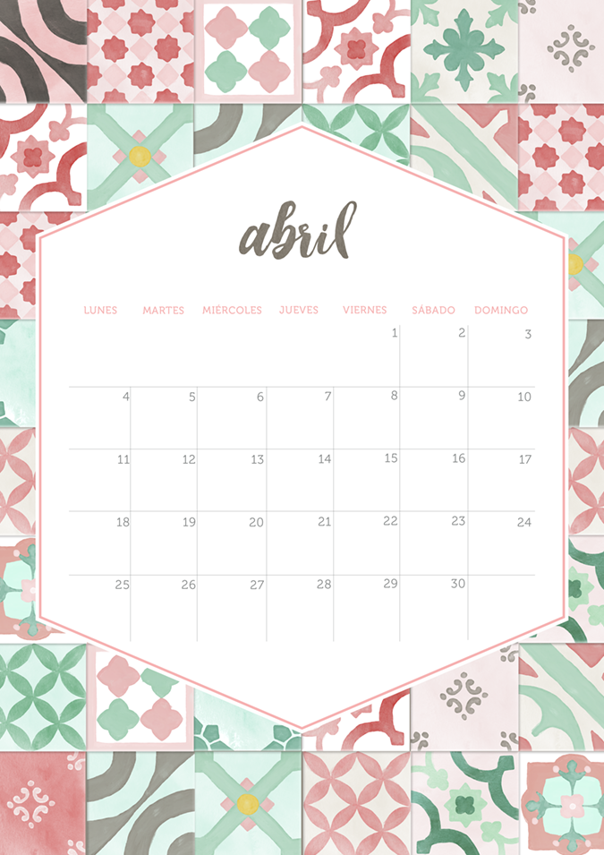 Milowcostblog calendario abril imprimible y fondo for Fondo de pantalla calendario 2018