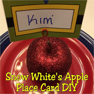 Decorate for your Snow White birthday party with these apple place card holders.  You can add party food or guest's names to these diy place card settings to make your Snow White party the fairest in the land.
