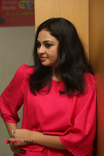 Actress Arundathi Nair Stills in Red Chididar at Bethaludu Success Meet  0017.JPG