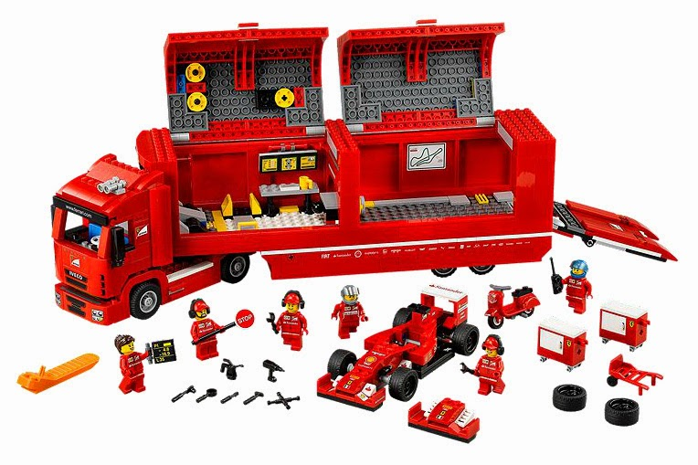 Speed Champions F14 T and Scuderia Ferrari Truck in LEGO